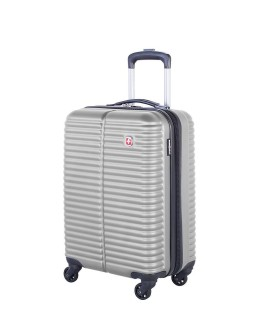 "Swiss Gear 20"" Spinner Carry-On Luggage Monthey Silver"