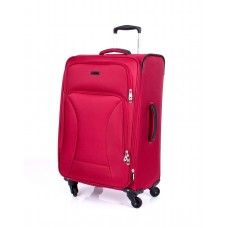 """Ricardo Beverly Hills 24"""" Expandable Spinner Luggage Huntington  Red"""