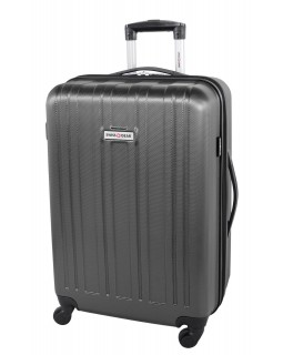 "Swiss Gear 24"" Spinner Expandable Luggage Travelite Dark Charcoal"