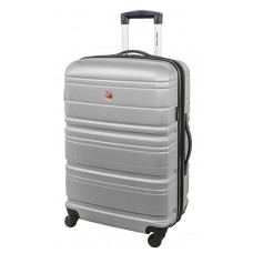 Swiss Gear 24″ Spinner Expandable Luggage Migration Silver