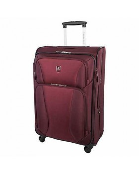 "Atlantic Medallion 24"" Spinner Expandable Luggage Burgundy"