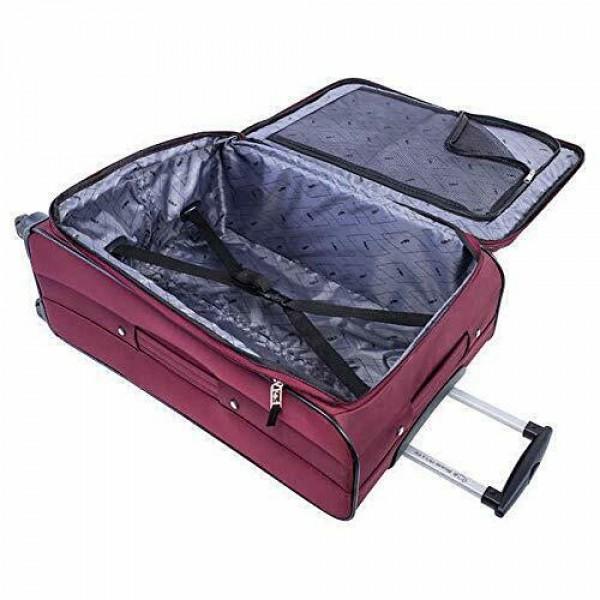 "Atlantic Medallion 24"" Spinner Expandable Luggage Burgundy"