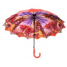 Austin House Stick Umbrella Double Canopy Burnt Orange