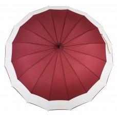 Knirps Belami Stick Umbrella with Shoulder Strap Burgundy/White