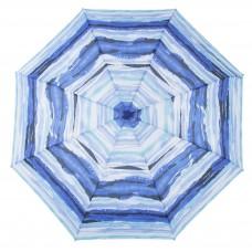 Knirps Belami Folding Telescopic Umbrella Blue Aquarelle Stripes Print