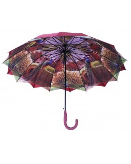 Austin House Stick Umbrella Double Canopy Burgundy