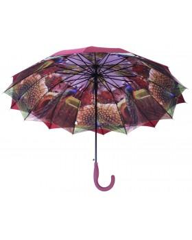 Austin House Stick Umbrella Double Canopy Burgundy
