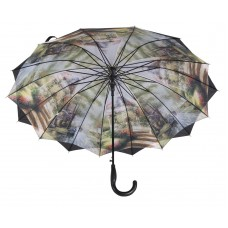 Austin House Stick Umbrella Double Canopy Black