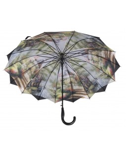 Austin House Stick Umbrella Double Canopy Black