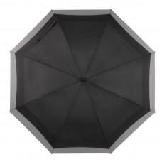 Knirps Belami Jumbo Windproof Stick Umbrella Black / Grey