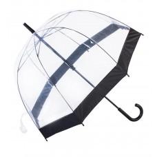 Knirps Belami Clear Dome Stick Umbrella Black Border