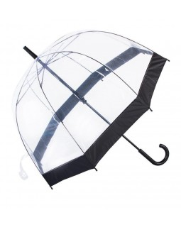 Knirps Belami Clear Dome Stick Umbrella Black Border