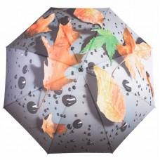 Knirps Belami Stick Umbrella Automatic Orange Leaf