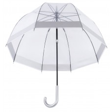 Knirps Belami Clear Dome Stick Umbrella Silver Border