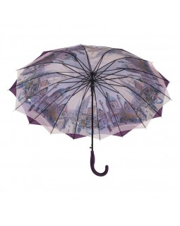 Austin House Stick Umbrella Double Canopy Purple