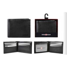 Swiss Gear Leather Billfold Wallet RFID Black