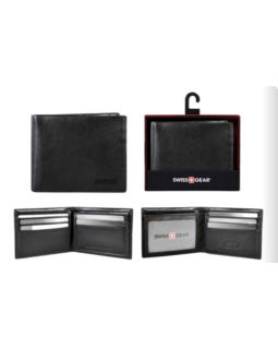 Swiss Gear Leather Billfold Wallet RFID Black