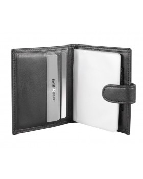 Swiss Gear Leather RFID Card Case with Snap