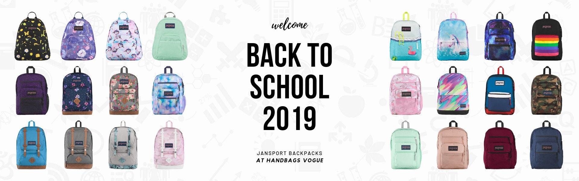 Back to school 2019 Jansport Backpacks